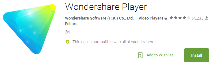 Wondershare Player - Best Android Video Players 2017