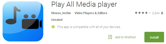 Play All Media player - Best Android Video Players 2017
