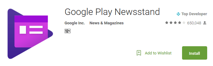 Google Play News Stand