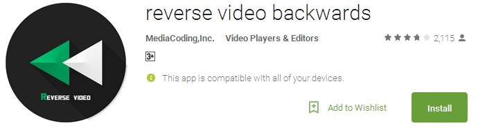 reverse video backwards