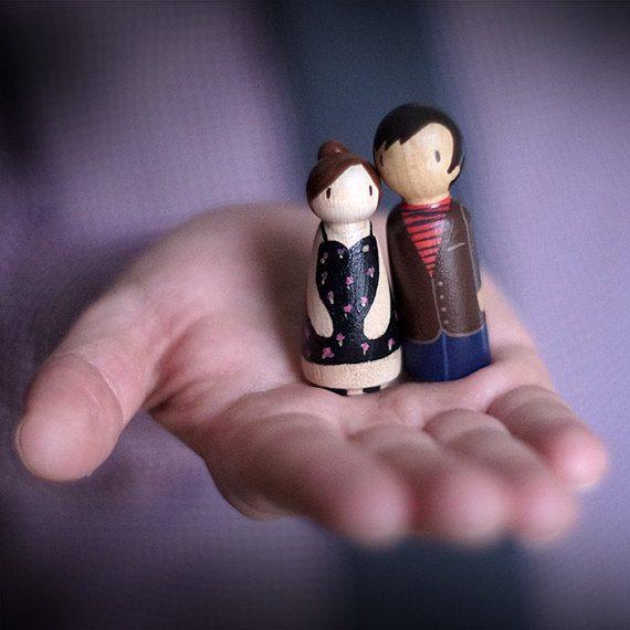 Custom Peg Couple Figurines