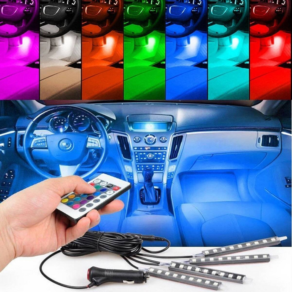EJ 7 Color LED Car Interior Lighting Kit