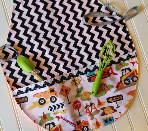 Kids Apron and Snack Bag