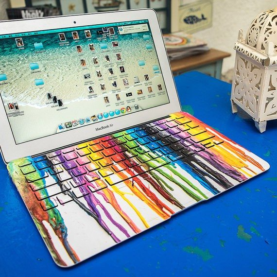 Melted Crayons Keyboard for MacBook