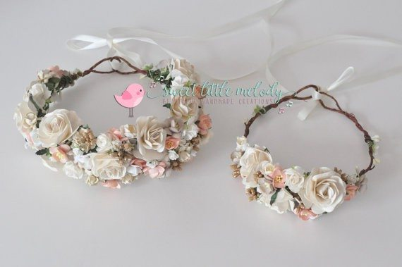 Mommy and Baby Flower Crowns