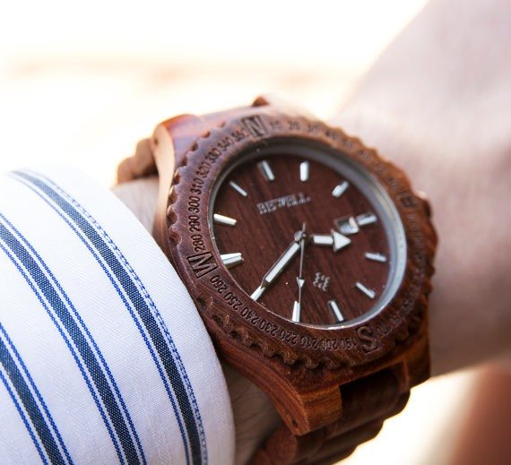 Personalized Men's Wooden Watch