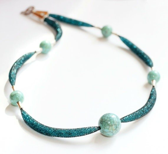 Seed Bead Turquoise Necklace