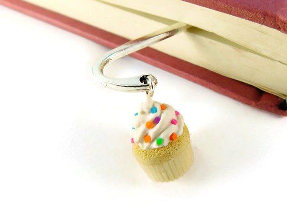 Vanilla Cupcake Planner Bookmark
