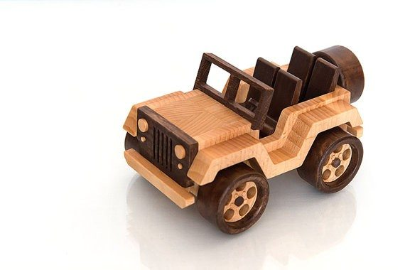 Wooden Toy Car Jeep Wrangler