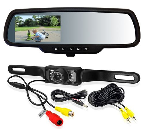 Cotton Design Backup Camera & Rear View Monitor Reversing Parking Mirror Reverse System