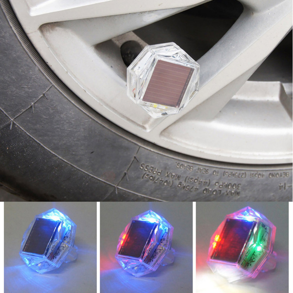 LED Solar Tire Wheel Light Vehicle Decoration Warning Lamp