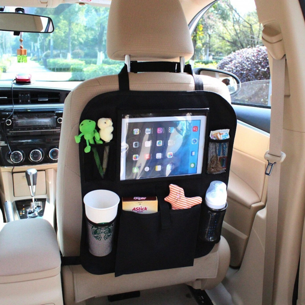 iPad and Tablet Holder With Seat Organizer by AutoMuko