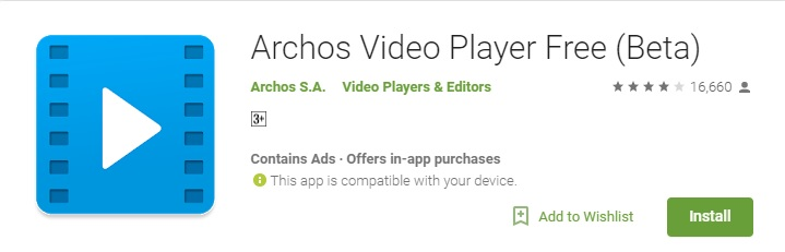Archos palyer - Best Android Video Players 2017