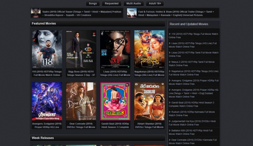 MovieRulz 2019 – Download Telugu, Malayalam, Hindi Dubbed Movies